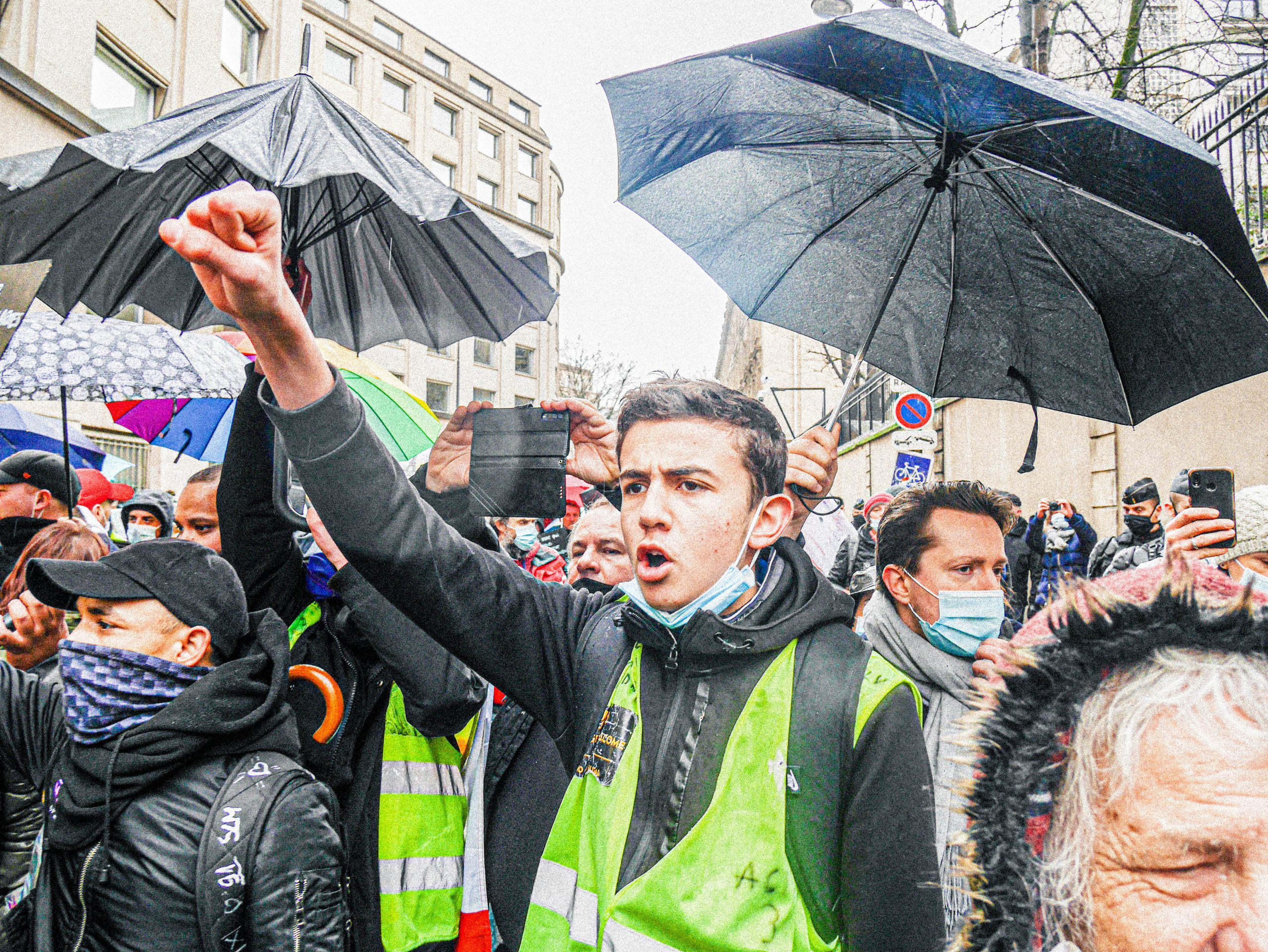 Manifestation contre les licenciements (Paris, 23 janvier 2021)