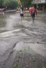 tormenta lluvia y granizo
