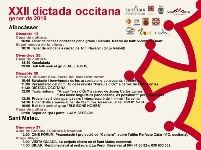 Albocàsser acull la XXII Dictada Occitana