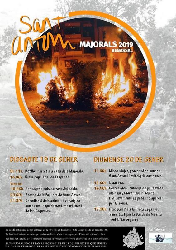 Cartell Sant Antoni 2019 Benassal