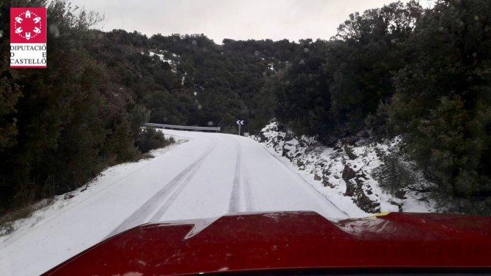 Neu al a carretera de Vallibona