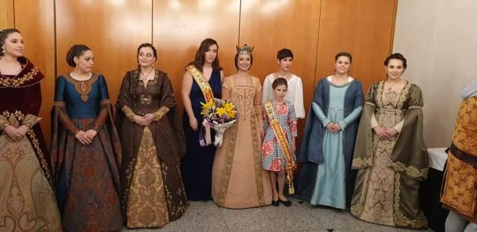 Les reines de Benassal en la proclamació de Na Violant d'Hongria 2019