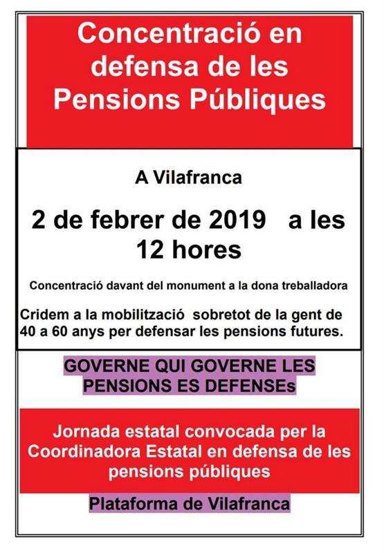 MANIFESTACIÓ JUBILATS VILAFRANCA