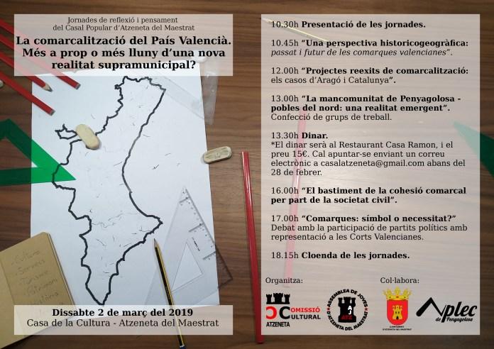Jornada de reflexió sobre les comarques valencianes en Atzeneta