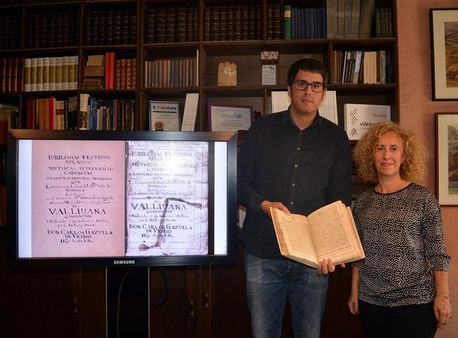 Restauren el llibre sobre el V Sexenni de Carlos Gazulla de Ursino