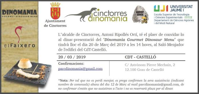 Experiència gastronòmica prehistòrica a Cinctorres