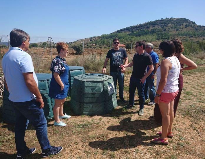 2019-09-03 Foto Ignasi Garcia amb alcaldes de la Mancomunitat al punt verd de Vistabella