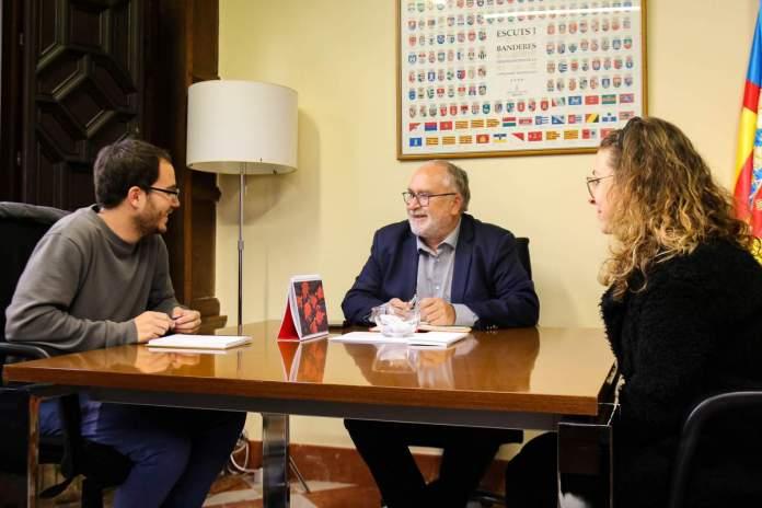 Reunió de l'alcalde de Villores amb el director general d'Administració Local