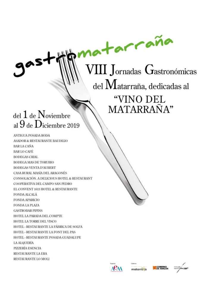 Cartel de las VIII Jornadas gastronómicas