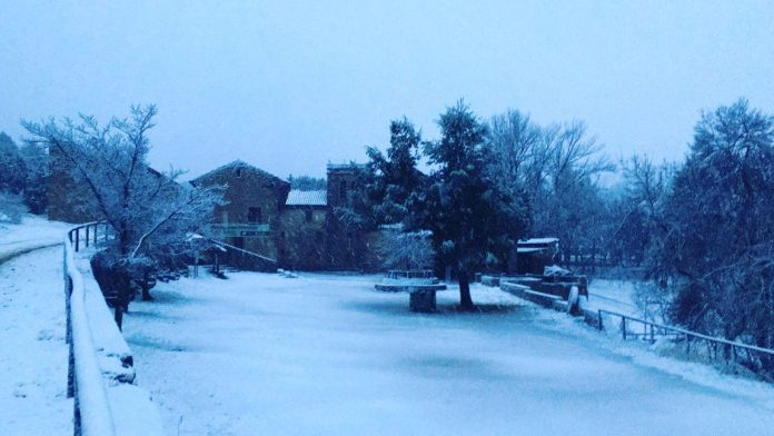 Sant Joan de Penyagolosa nevat