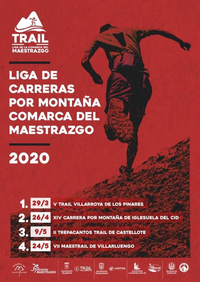 Cartel de la Liga de carreras por montaña Comarca del Maestrazgo 2020
