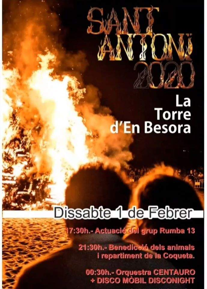 Cartell Sant Antoni 2020 La Torre d'en Besora