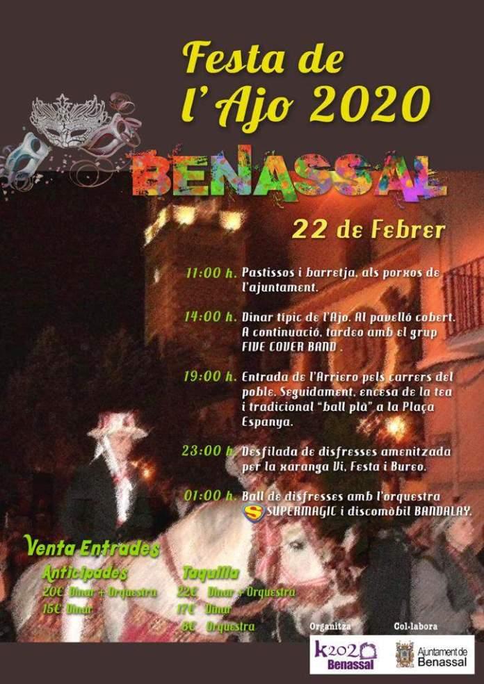 Cartell de la 'Festa de l'Ajo' a Benassal