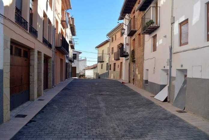 Obres al carrer Alt de Sant Francesc de Morella