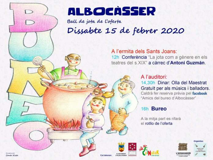 Cartell del bureo a Albocàsser