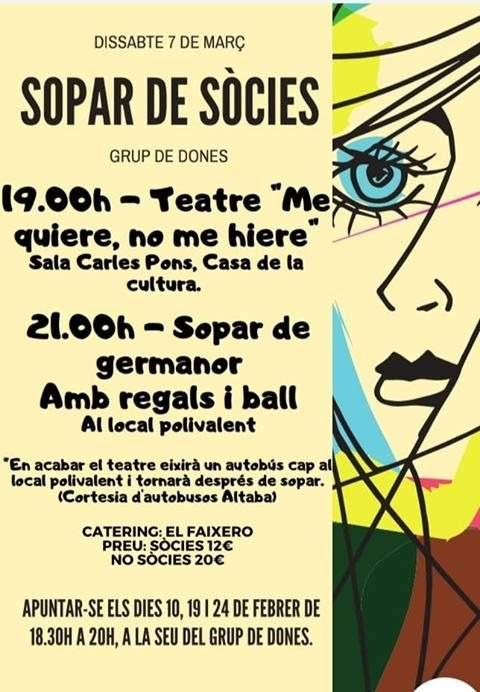 Cartell de la festa del Grup de Dones de Vilafranca