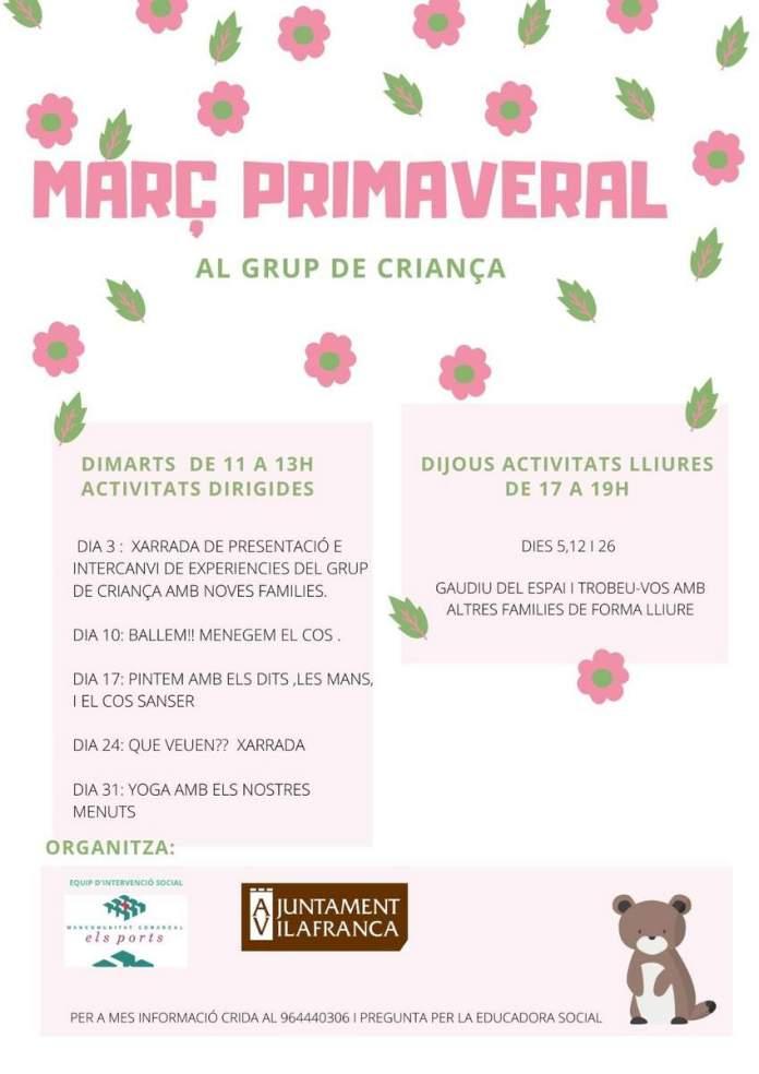 Activitats de març del Grup de Criança de Vilafranca