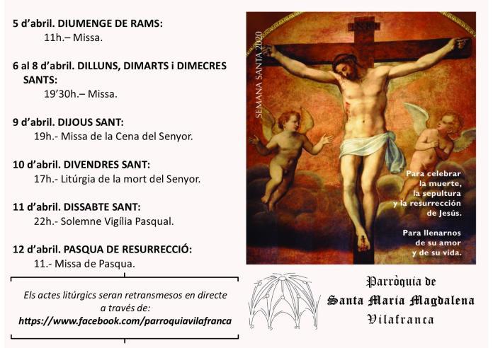Setmana Santa digital a Vilafranca