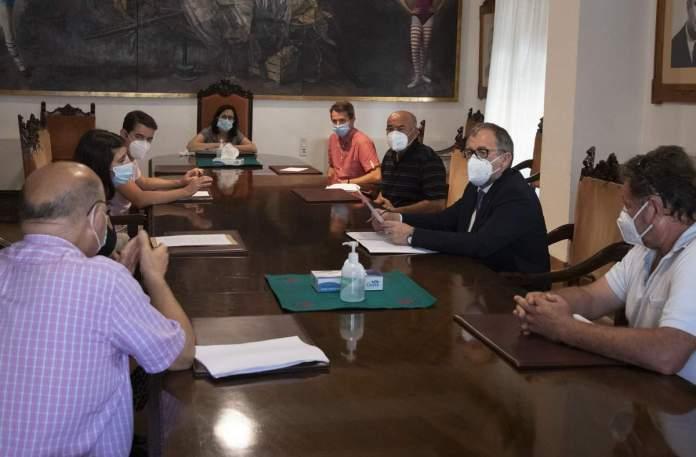 Reunió sobre el transport de viatgers a la Diputació de Castelló