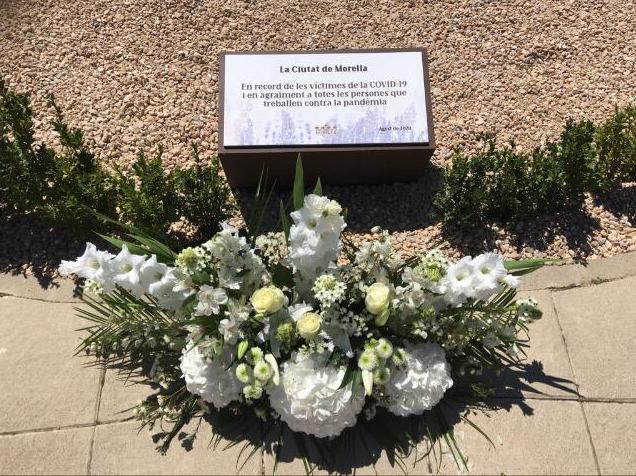 Homenatge a les víctimes de la Covid-19 a Morella