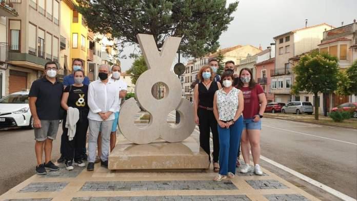 Escultura Capitalitat Cultural Valenciana a Vilafranca