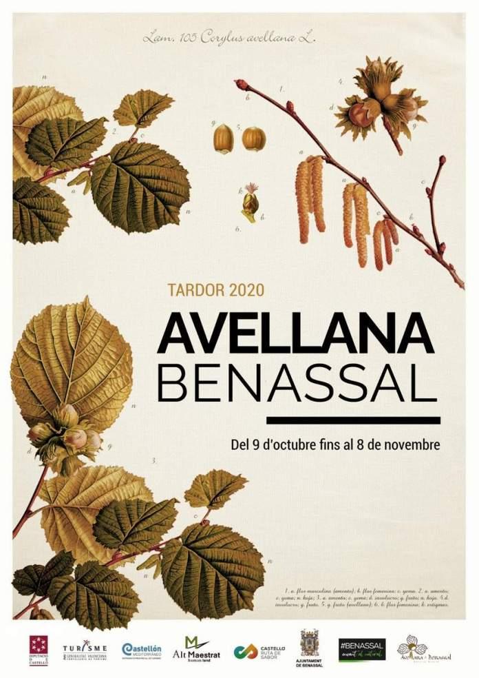Cartell del Mes de l'Avellana a Benassal