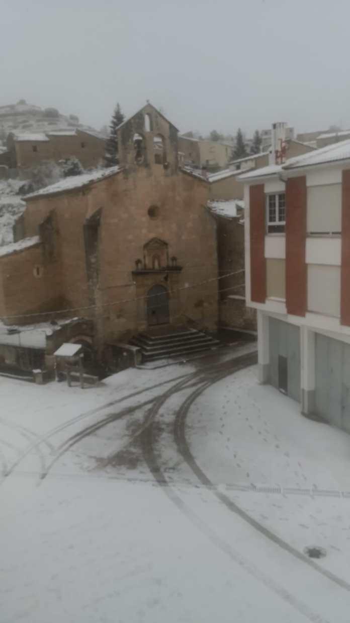 Neu a Portell el 1 de gener