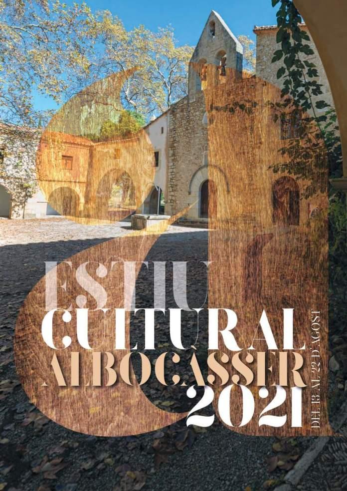 Cartell de l'Estiu Cultural d'Albocàsser 2021