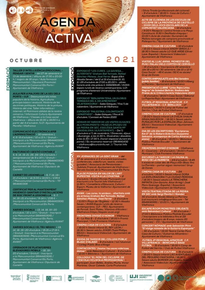 Agenda Activa Octubre 2021 a Vilafranca