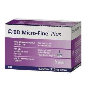 Иглы Микро-Файн Плюс 5мм (Micro-Fine Plus) - 100 шт.