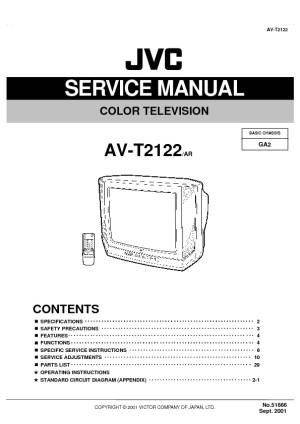 JVC JVC AV T2122 Chasis GA2 pdf Diagramas de Televisores