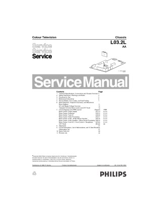 PHILIPS Philips 14PT3005 55 Chasis L032L AA pdf Diagramas