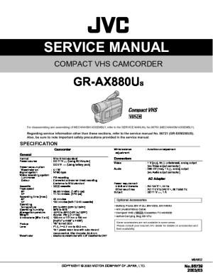 JVC GR AX880US GR AX880US pdf Diagramas de televideo tv