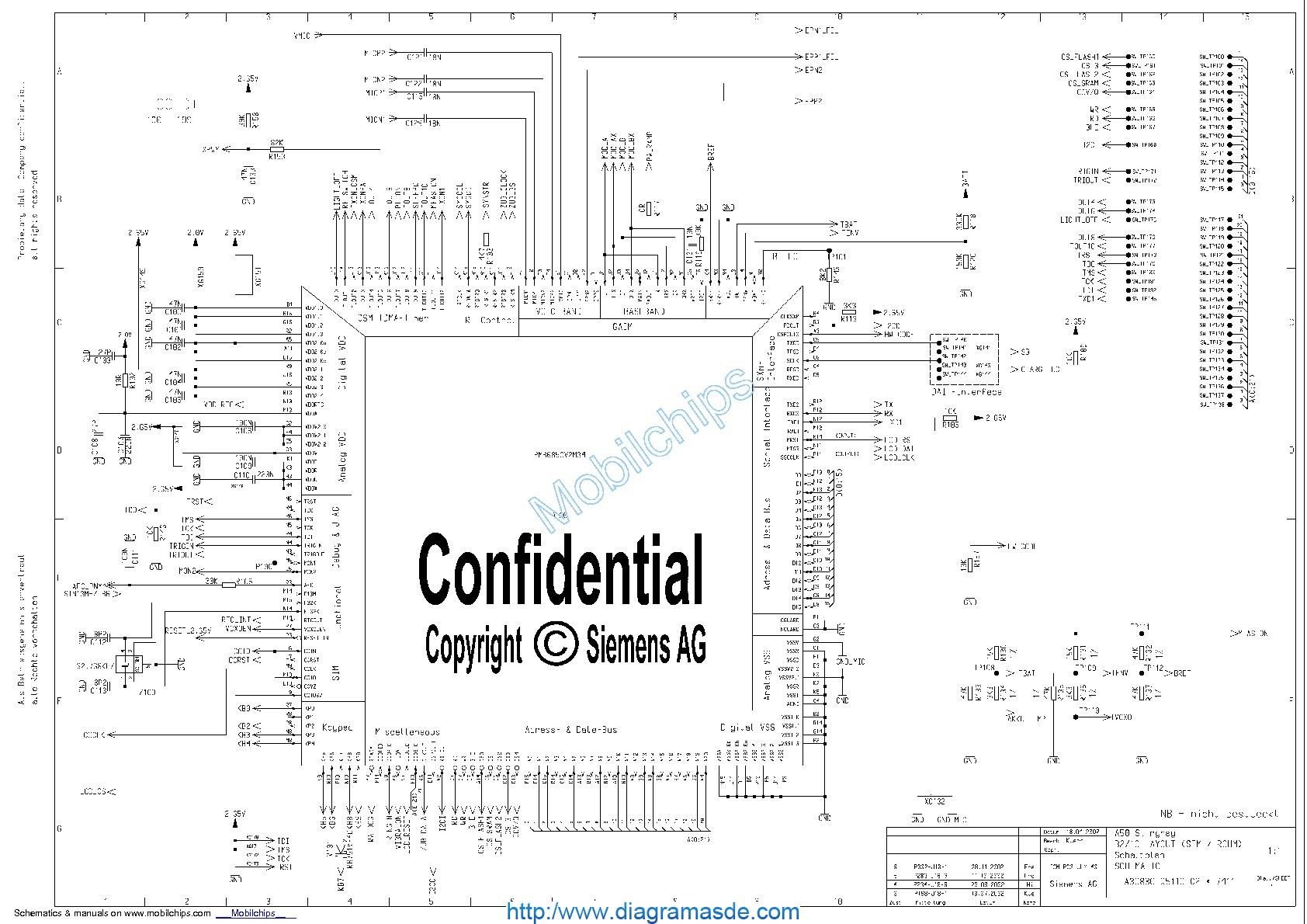 Diagrama Del Celular Siemens A50 Schematics