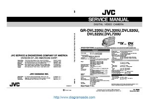 JVC Camcorder GRDVL720U – Manual de serviciopdf JVC