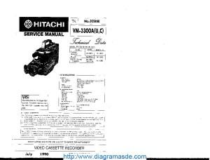 VM3300Apdf Hitachi VM3300A   Diagramasde  Diagramas