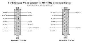 8793 Mustang Instrument Cluster Diagram