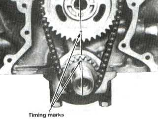 Mustang Cam to Crank Timing Alignment Diagram