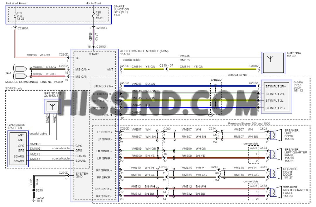 2013 Mustang Stereo Wiring Diagram