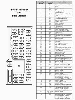 0514 Mustang GT V6 Fuse Diagram  2005 05 2006 06 2007 07