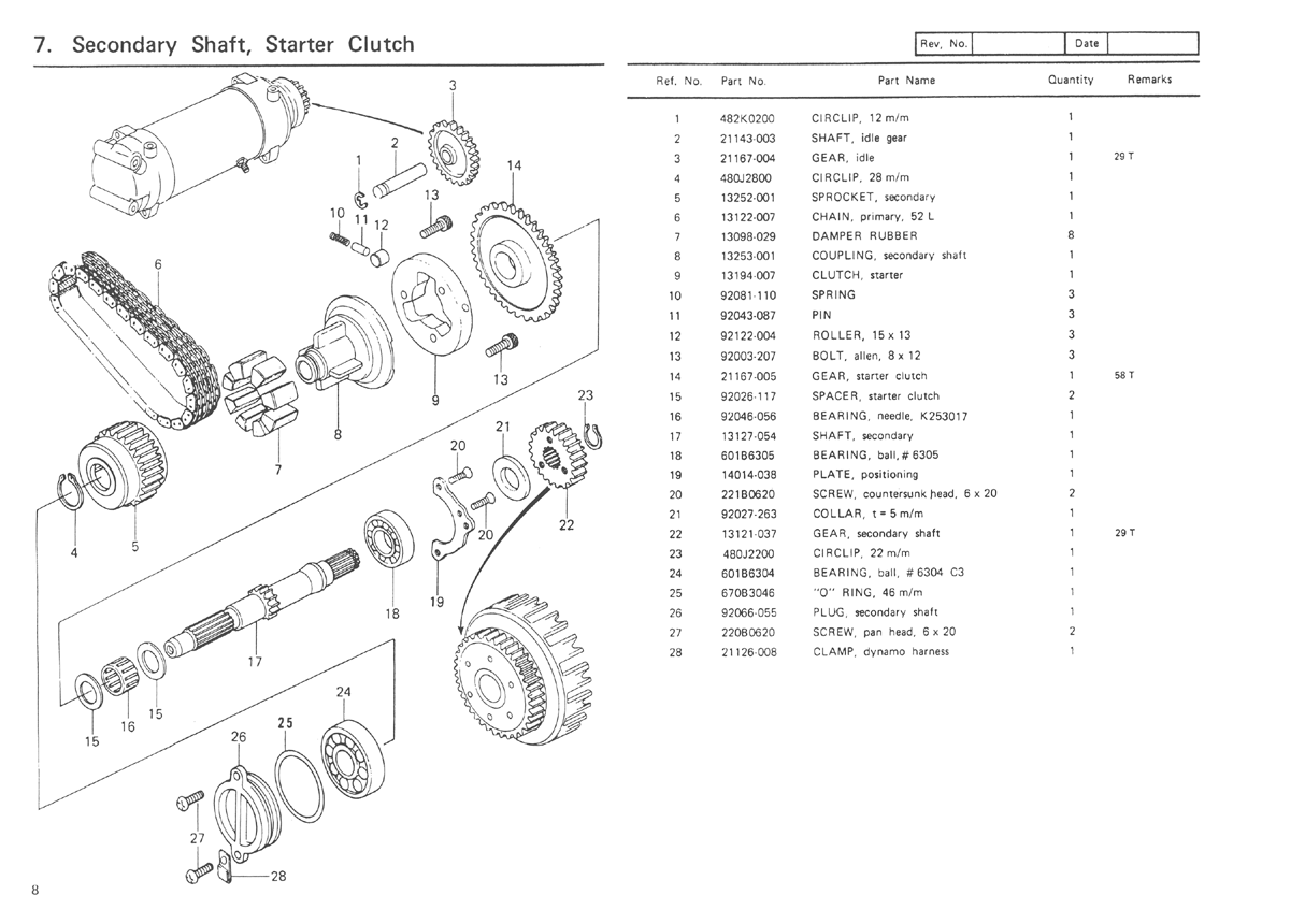 Kawasaki Kz Parts Diagram