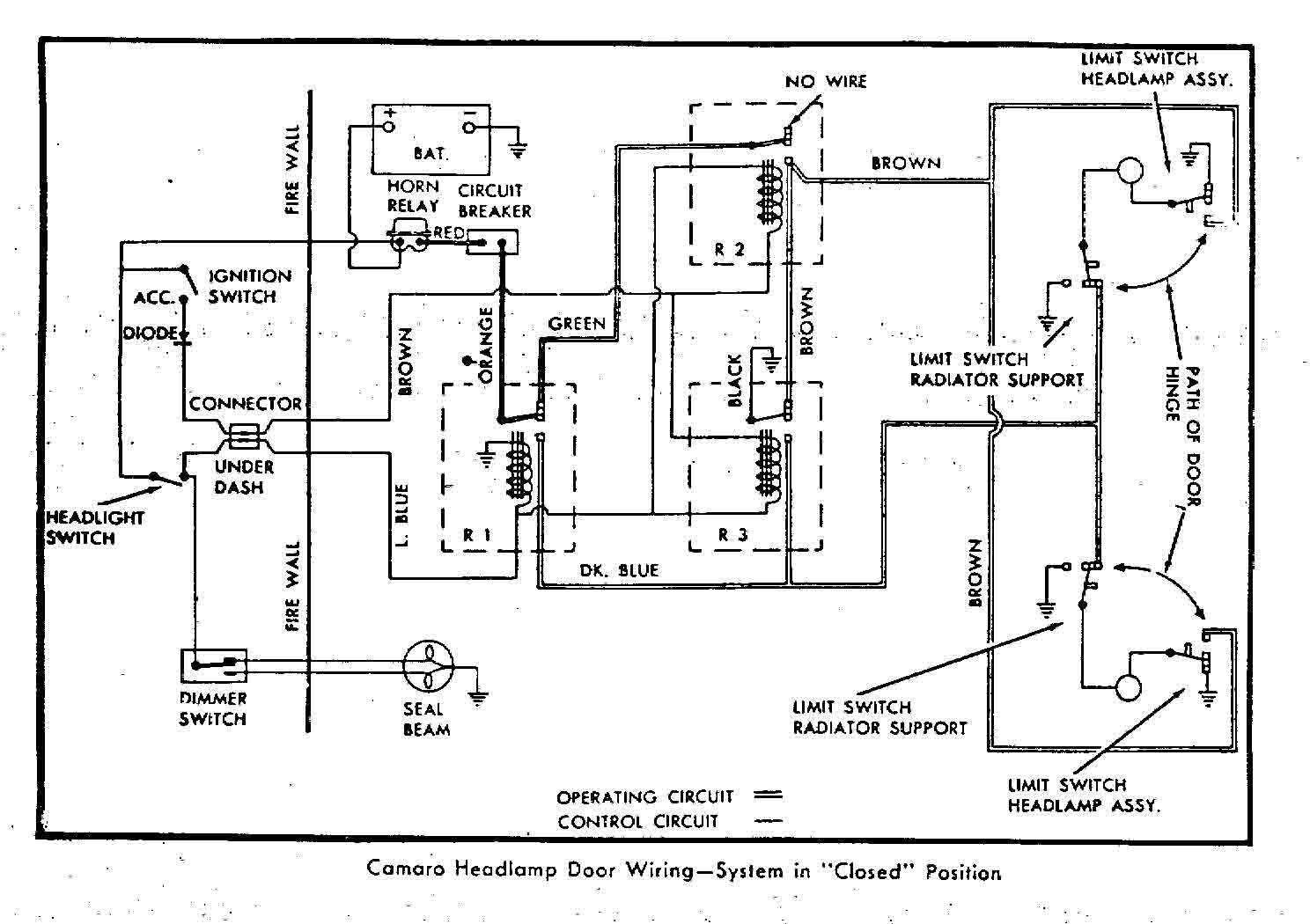 Chevrolet Camaro 4 Terminal Wiper Motor Wiring Diagram