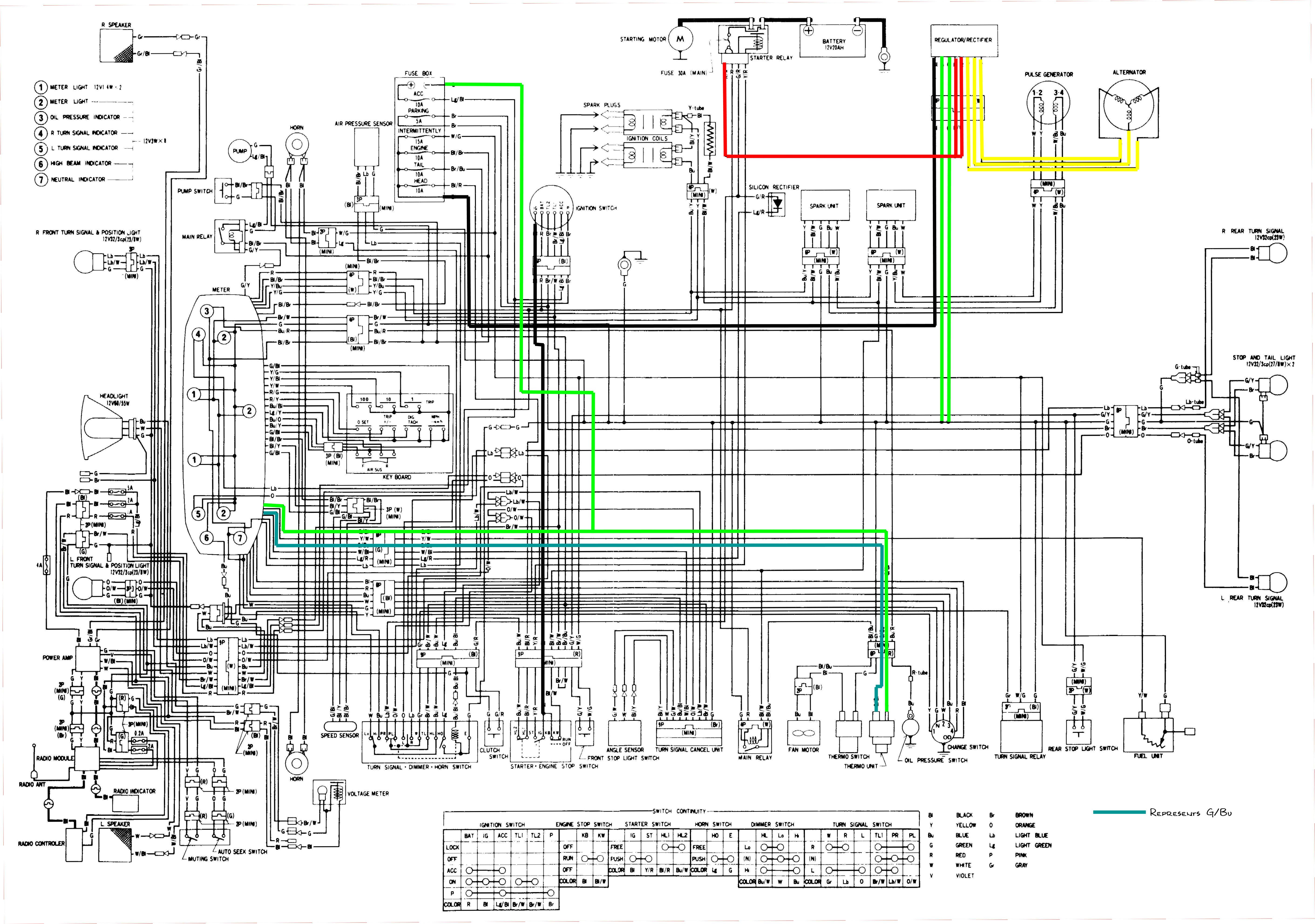 Honda Goldwing Voltmeter Wiring Diagram