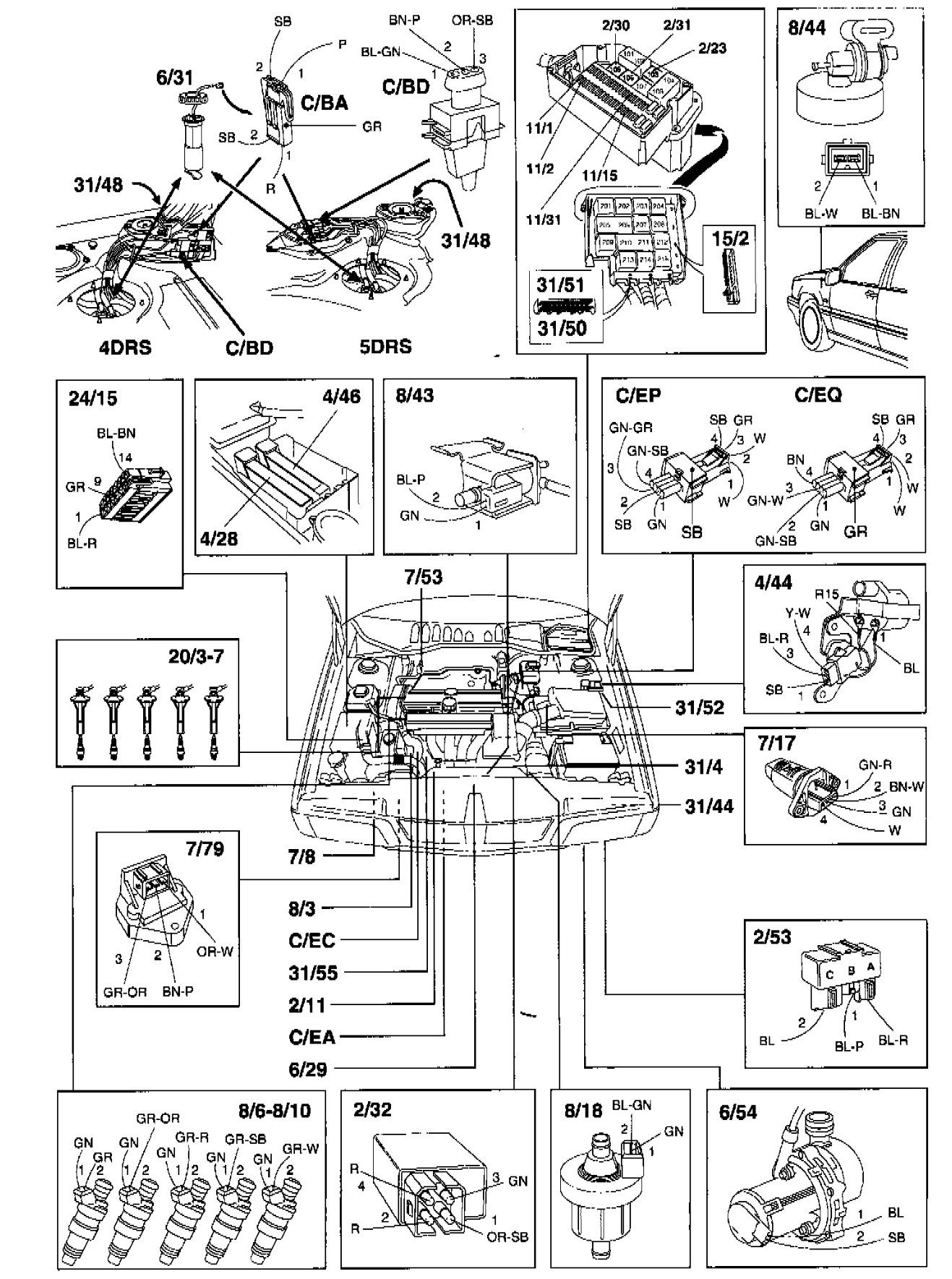 S90 Volvo Fuel System Wiring Diagram
