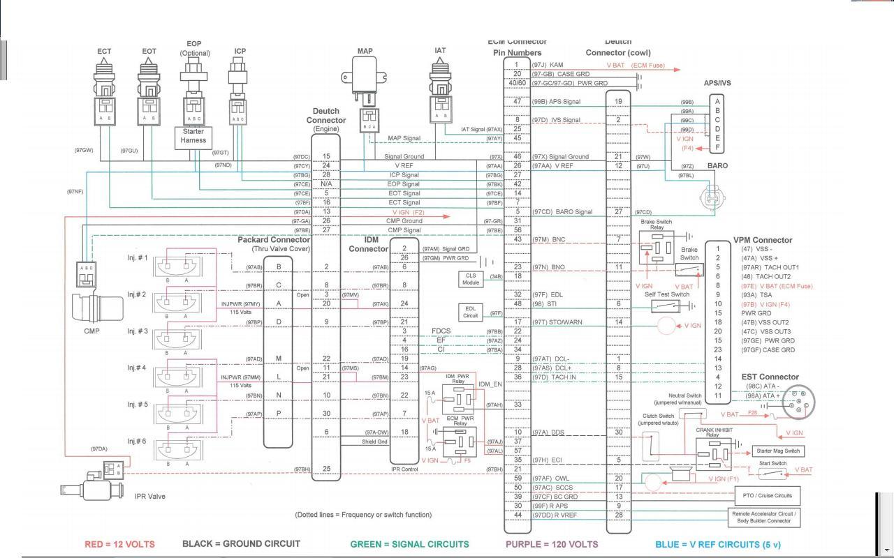 International Dt466e Engine Wiring Diagram