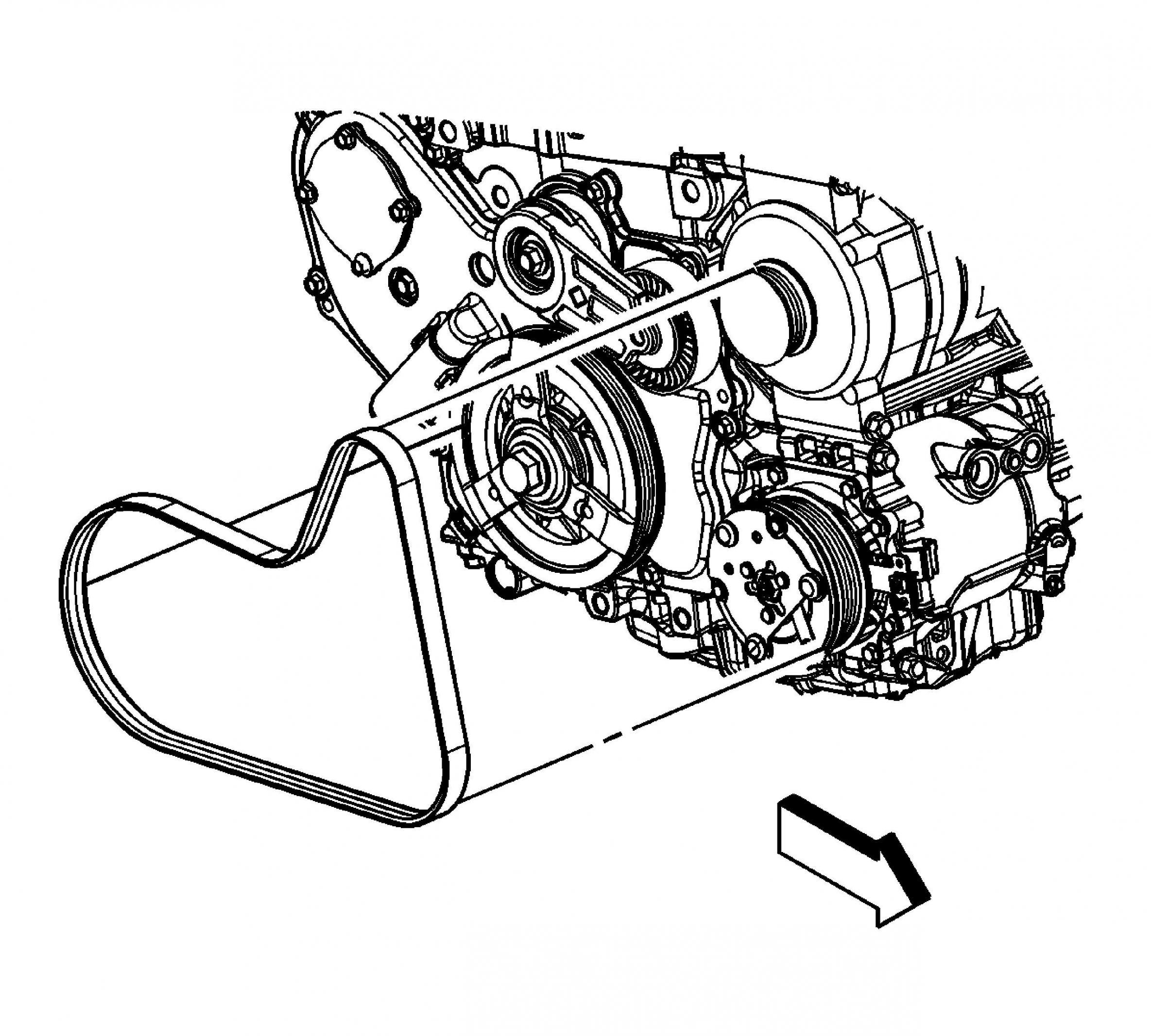 Chevy Traverse Serpentine Belt Diagram