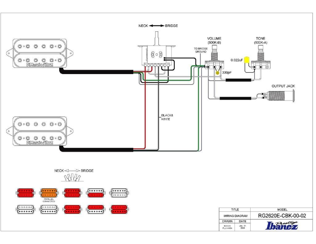 Ibanez B Guitar Wiring Diagram