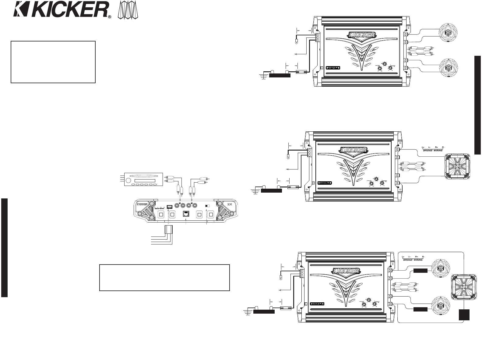 Kicker Cxa 1 Wiring Diagram