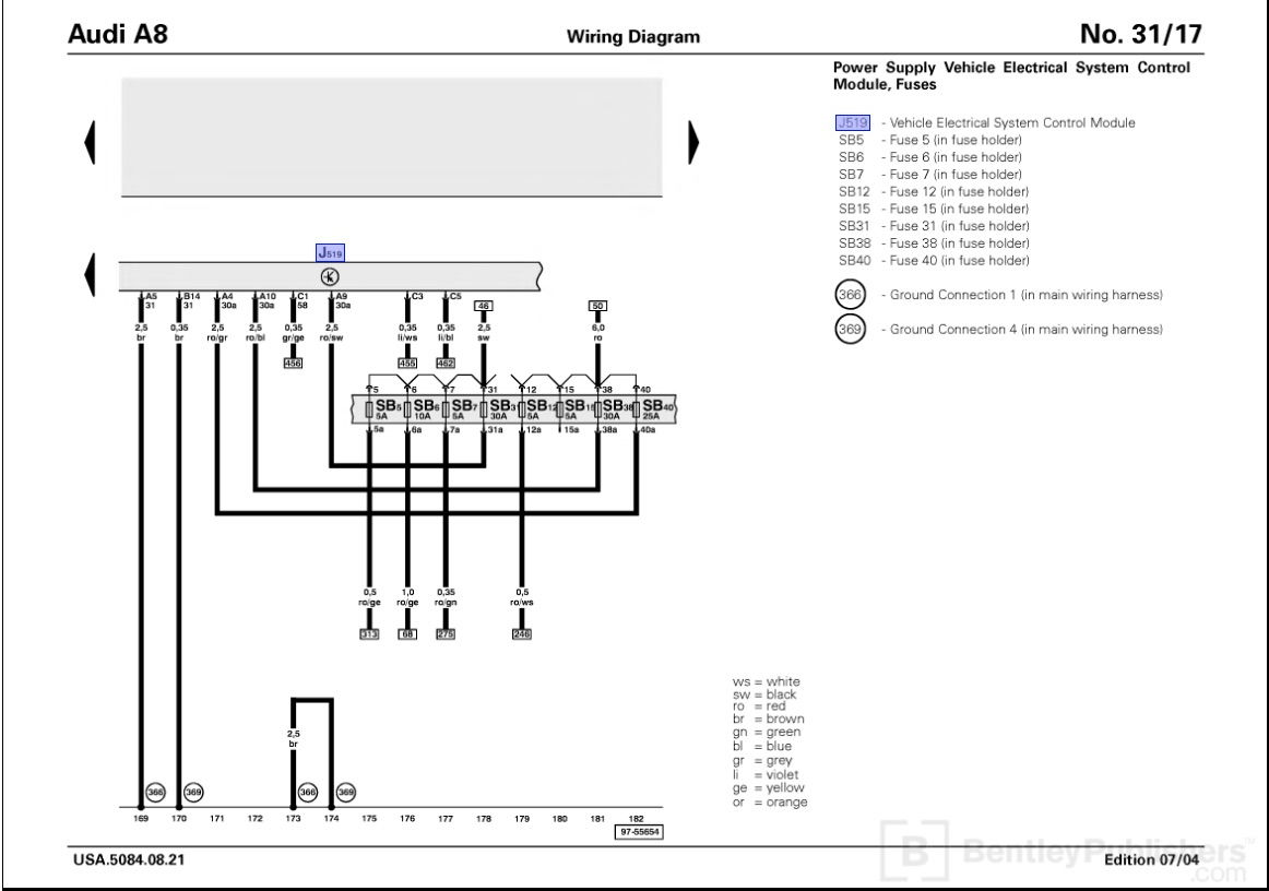 Wiring Diagram To Factory Amp In A Audi A8l