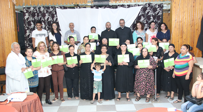 The Coptic Catholic Church honoring some of the graduates of literacy. Cairo,4 September 2018